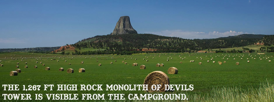 Devils Tower KOA Campground Map, Devils Tower RV Campground, Wyoming on